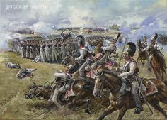 Russian Cuirassiers attacking a french infantry square.