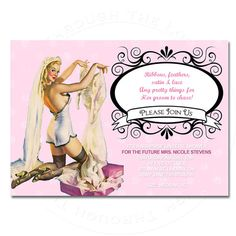 You Print lingerie wedding shower party invitation pin up DIGITAL customize can order Bridal Lingerie Shower, Lingerie Party, Bridal Shower Party, Wedding Lingerie, Wedding Showers, Wedding Parties, Wedding Wishes, Bachelorette Party Invitations, Bachlorette Party