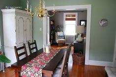 Salisbury Green, Benjamin Moore (historical collection) Living room. Favorite Paint Colors: green