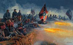 Infantería confederada de Virginia durante la Guerra Civil Americana (1861-1865).  Más en www.elgrancapitan.org/foro