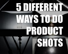 5 Different Setups To Nail A 2 Lights Product Shot