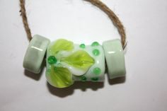 Set of beads lampwork. Beads for jewelry. Perls. by womanhobby