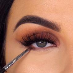 Creative Brown Makeup Tutorial – Make-up ideen Eye Makeup Steps, Makeup Eye Looks, Eyebrow Makeup, Eyeshadow Makeup, Eyeliner, Creative Eye Makeup, Colorful Eye Makeup, Simple Eye Makeup, Natural Makeup
