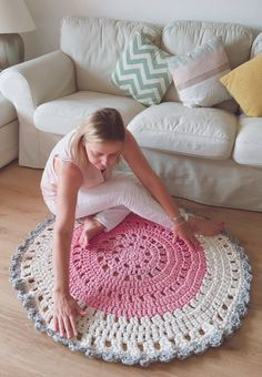 ALFOMBRA DE TRAPILLO CON ARCOS / Knit and Love