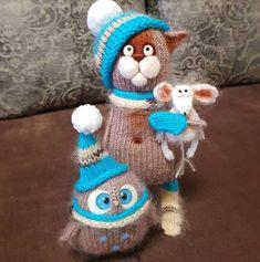 Another couple went home👋👋👋 # toy # knitting toys # knitting # weamiguru # Embroidery Needles, Amigurumi Toys, Handmade Toys, Knitting Yarn, Round Beads, Cute Animals, Bunny, Crochet Hats, Tejidos