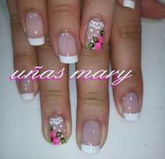 Uñas J Nails, Coffin Nails, Hair And Nails, Finger, Cute Toes, French Tip Nails, Trendy Nails, Manicure And Pedicure, Nail Care
