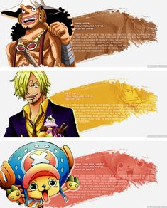 Usopp, Sanji, and Chopper Status Report After the two years