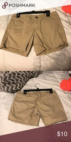 Size 4 American Eagle Khaki Shorts Worn a few times. Great condition. American Eagle Outfitters Shorts