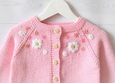Baby pink cotton sweater summer cardigan baby girl sweater knitted sweater flower girl cardigan flower embroidery MADE TO ORDER, Diy Abschnitt, Baby Cardigan Knitting Pattern, Knitted Baby Cardigan, Baby Pullover, Summer Cardigan, Baby Knitting Patterns, Cotton Sweater, Baby Girl Cardigans, Girls Sweaters, Baby Sweaters