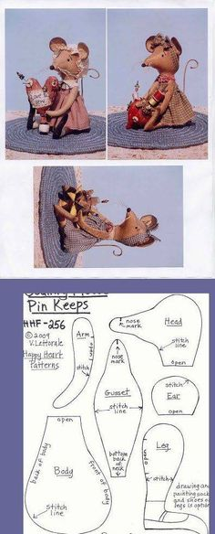 Sewing Patterns Toy Mice 69 New Ideas Doll Patterns, Sewing Patterns, Mouse Crafts, Pet Mice, Cute Mouse, Fabric Toys, Sewing Dolls, Stuffed Animal Patterns, Stuffed Animals