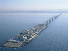 Tokyo Bay Aqua Line - huge bridge and tunnel hybrid in Japan ~ 20 Massive Engineering Feats