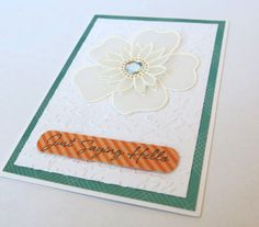 Created using Hero Arts Sew Me Flower Jewel CL521 and embossing folder