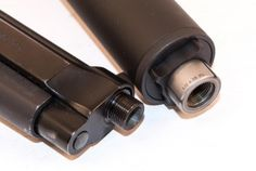 Silencers 101: The Beretta 92 barrel extends far enough past the slide to add threading.