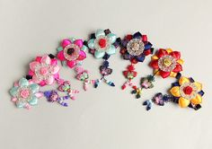 Hanbok Hair clip  flower brooch  Korean traditional by muzeday