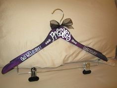 custom painted hangers for CHEERLEADERS,  wouldn't this be a wonderful way to remember to care for your uniform!!!