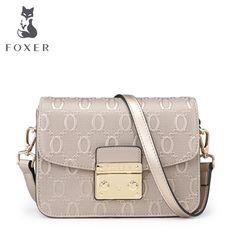 FOXER Brand 2017 Women s Leather Messenger Bag High Quality Girl Snap  Crossbody Bags for women Female Shoulder bags 734f113c88c01