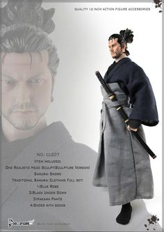 Dollsfigure 1/6 Gothic Miyamoto Musashi CC207 Hairdo CC208 Hair Version for Action Figure DIY-in Action & Toy Figures from Toys & Hobbies on Aliexpress.com | Alibaba Group