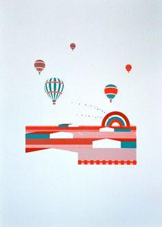 Print Club London | shop | mecanoma_hot_air_baloons