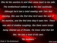 Wrath Rhage Zsadist Butch Vishous Phury Tohrment BDB Black Dagger Brotherhood