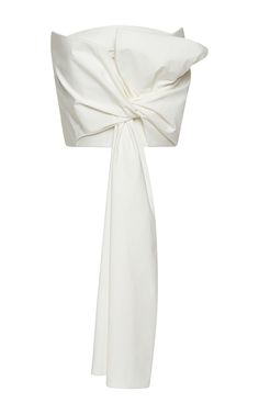 Strapless Draped Bow Top by DELPOZO Now Available on Moda Operandi