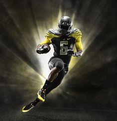 2014 Oregon Ducks Black and Yellow Nike Mach Speed Uniform