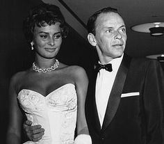 Sophia Loren and Frank Sinatra at the premiere of The Pride And The Passion