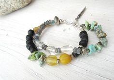 Flux De Forces Naturelles ....:  un bracelet 2 rangs boho