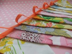 vintage Fabric Party Bunting