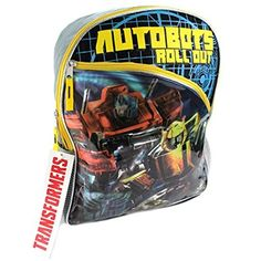 Transformers Autobots Roll Out Backpack Yellow * Continue to the product at the image link.Note:It is affiliate link to Amazon.
