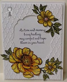 stampin up bloom with hope Embossed Cards, Stamping Up Cards, Card Making Techniques, Get Well Cards, Card Sketches, Sympathy Cards, Happy Birthday Cards, Paper Cards, Flower Cards