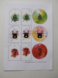 Watercolour Christmas Icons gift tags! free printables - christmas freebies
