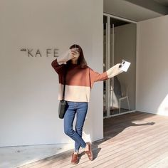 Find images and videos about outfit, kfashion and korean fashion on We Heart It - the app to get lost in what you love. Korean Fashion Trends, Korean Street Fashion, Korea Fashion, Asian Fashion, Girl Fashion, Fashion Looks, Fashion Outfits, Fashion Design, Style Fashion