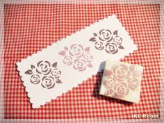 Rose Stamp  Hand Carved Rubber Stamp by KLRoom on Etsy, $7.00