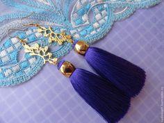 """Купить Серьги кисти """"Magic Day"""" - тёмно-фиолетовый, фиолетовый, серьги, серьги кисти"""