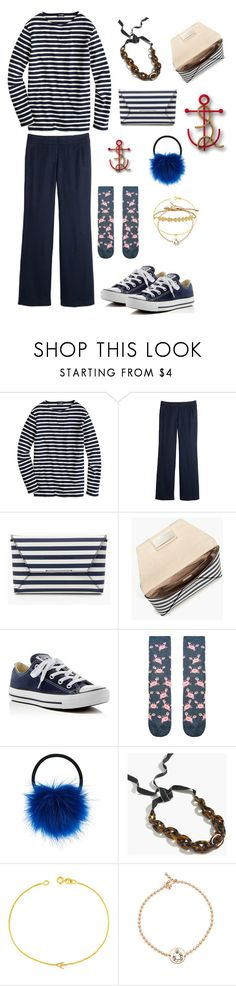 """⚓️"" by strawberryplums ❤ liked on Polyvore featuring J.Crew, Converse, Accessorize, Maya Brenner, Alex and Ani and Madewell"