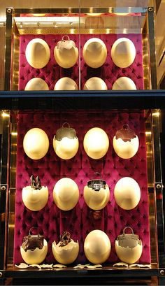 Louis Vuitton Window - NYC. Amazing, their stuff is hatching out of eggs...