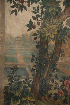 Large Tapestry Cartoon For A Verdure Tapestry | From a unique collection of antique and modern paintings at https://www.1stdibs.com/furniture/wall-decorations/paintings/