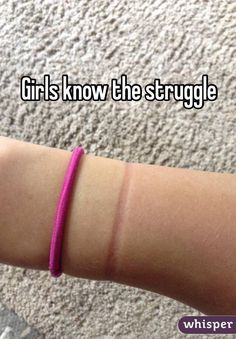 """Girls know the struggle"""
