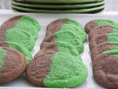 Red Couch Recipes: St. Patrick's Day Marble Cookies -- Roba Dolce Good News Contest