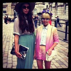 Cool girls Isabella and Stella at LFW