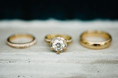 unique yellow gold #wedding rings | Spindle Photography