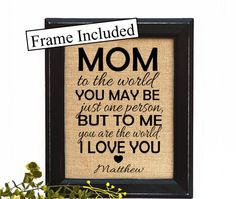 Mothers day from daughter, Gifts For Mother, Personalized Mom Gift, Gift for Mom, Mother's Day Gift, Personalized Gift, Mom Gift by BlessedHomesteadShop on Etsy