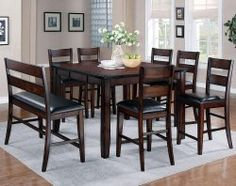 Shop For Crown Mark Counter Bench And Other Dining Room Benches At Trivetts Furniture In Fredericksburg VA
