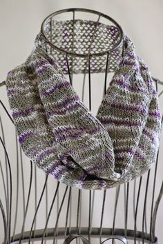Zigzag Ribbon Stitch Cowl: knit with about 130 yards of sport weight yarn and size 6 needles
