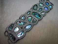 Bead embroidery by Lena Thaller