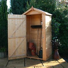 Mercia Sentry Box Wooden Garden Tool Store | Internet Gardener