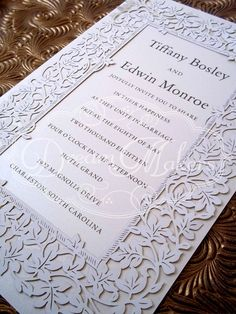 Laser Cut Ivy Invitation