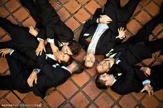An aerial shot is sweet. 18 Glorious Ideas For Groomsmen Photos Groomsmen Wedding Photos, Funny Wedding Photos, Groom And Groomsmen, Wedding Poses, Wedding Pictures, Wedding Ideas, Groomsmen Poses, Wedding 2015, Autumn Wedding