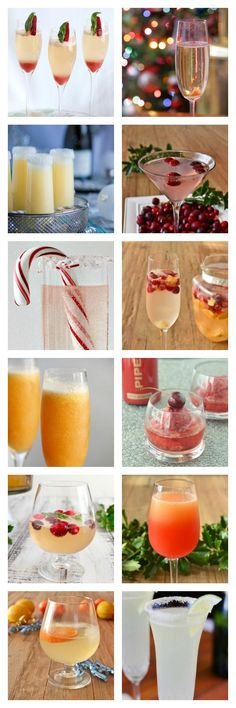 18 amazing champagne cocktail recipes to help you celebrate the holidays The best champagne cocktails for the holiday season. With ideas for individual drinks and for serving large groups with punches and an easy cocktail bar. Fancy Drinks, Easy Cocktails, Cocktail Drinks, Yummy Drinks, Cocktail Recipes, Alcoholic Drinks, Champagne Drinks, Bourbon Drinks, Christmas Cocktails