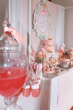 Little Big Company the blog, A pink and peach vintage themed party by Paper and Style Co.